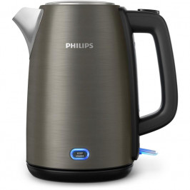 Rýchlovarná kanvica Philips Viva Collection HD9355/90... Kovové víko spružinou, světelný indikátor, kapacita 1,7litru, funkce udržení teploty.