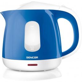 Rýchlovarná kanvica Sencor SWK 1012BL  modr... Objem 1 litr, oboustranný vodoznak, bezpečnostní jištění.