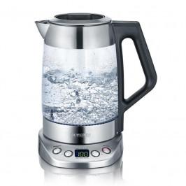 Rýchlovarná kanvica Severin Deluxe WK 3479 nerez/sklo... Skleněná rychlovarná konvice na čaj / vodu, nastavitelné stupně teploty od 40 °C do 100 °C, o