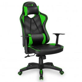 Herná stolička Connect IT LeMans Pro čierna/zelená (CGC-0700-GR...