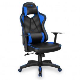 Herná stolička Connect IT LeMans Pro čierna/modrá (CGC-0700-BL...