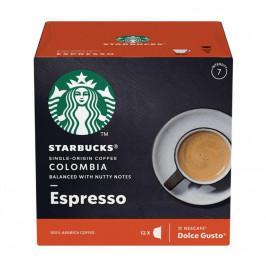 Kapsule pre espressa Starbucks Medium Espresso Colombia 12Caps... Kávové kapsle kompatibilní s kávovary NESCAFE® DOLCE GUSTO®, káva z Kolumbie, 12 kap