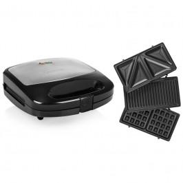 Sendvičovač  Tristar SA-3070 čierny/nerez... Příkon 800 W, výměnné desky na toasty, vafle a na grilování, nepřilnavý povrch.