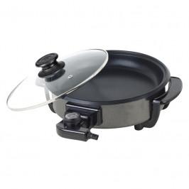 Panvica na pečenie First Austria FA5109-1 čierna... Průměr 30 cm, termostat s nastavením teploty až 190 °C, skleněné víko.