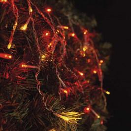 Spojovacie reťaz Emos 100 LED pulzující, krápníky, 2,5m - jantarová...