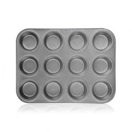 Forma na muffiny Banquet Granite siv... Forma na muffiny o rozměru 35 x 26,5 x 3 cm s nepřilnavým povrchem GRANITE, díky němuž bude pečení snadné a vý