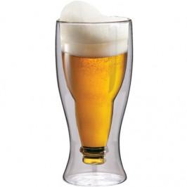 Termopohár Maxxo Beer 350 ml... Unikátní dvojstěnná termo sklenice na pivo, objem 350 ml, je ručně vyrobena z borosilikátového skla. Borosilikátové sk