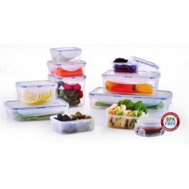 Sada potravinových dóz  Lock&lock Hpl805s11 11 ks plast... Praktická sada 11 plastových dóz se vzduchotěsným víkem k uchování čerstvosti a aroma. Vhod