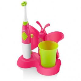 Zubná kefka ETA Zubnička 1294 90070 ružov... Čistenie detských zúbkov s radosťou a s chuťou s kefkou ETA Zubnička. Detský dizajn, nálepky, rotačná hla
