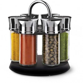 Sada koreničiek Lamart Spice (LT7009), 6 ks... Sada 6 sklenených koreničiek v otočnom plastovom stojančeku s praktickým madlom na prenášenie.