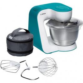 Kuchynský robot Bosch StartLine Mum54d00 biely/tyrkysov... Ideální kuchyňský robot v trendy barvách včetně velmi kvalitního příslušenství pro přípravu