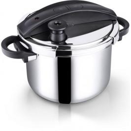 Tlakový hrniec Lamart Pression 6 l (Ltdsd6) čierny/nerez... Tlakový hrnec smasivním sendvičovým dnem pro zdravé vaření, pokrmy lze připravit velmi še