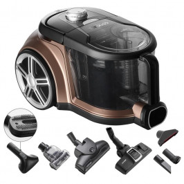 Podlahový vysávač Concept Radical VP5240 bronzov... Stálý sací výkon, extra tichý 72 dB, HEPA filtr 13, kartáč na zvířecí srst, velký turbokartáč, mal