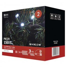 Spojovacie reťaz Emos 150 LED, Profi LED spojovací řetěz černý –...