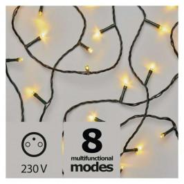 Vianočné osvetlenie Emos 180 LED, řetěz, 18m, teplá bílá, programy...