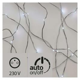 Vianočné osvetlenie Emos 40 LED, nano řetěz střábrný, 4m, venkovní,...