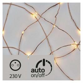 Vianočné osvetlenie Emos 40 LED, nano řetěz měděný, 4m, venkovní,...