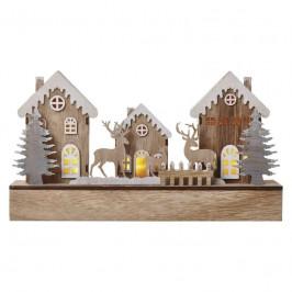 LED dekorace  Emos vánoční domečky, 30cm, 2× AA, teplá bílá,...