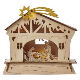LED dekorace  Emos vánoční betlém, 18cm, 2× AAA, teplá bílá,...