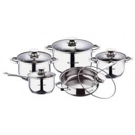 Sada hrncov Blaumann Jumbo Gourmet line BL-1637, 10 ks... 10ti dílná sada kvalitního nerezového nádobí pro úsporné vaření, vhodné na všechny sporáků,