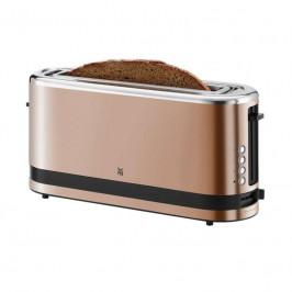 Hriankovač WMF Kitchenminis® 414120051... S dlouhým slotem a mimořádně štíhlým designem, zabudovaný nástavec na rozpékání pečiva a praktické kleště na