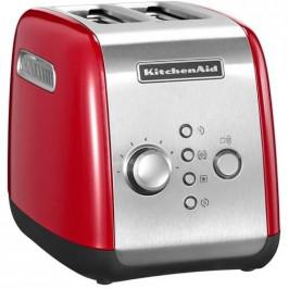 Hriankovač KitchenAid P2 5Kmt221eer červen... Funkce jednostranné opékání pro opékání bagelů a bulek - opéká pouze uvnitř a zvenku zahřívá. Funkce ryc