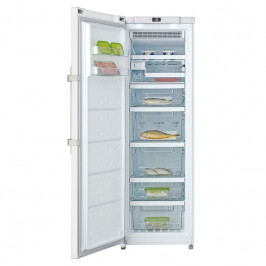 Mraznička Candy CFF 1864M/N biela... No Frost, elektronické ovládání, displej, transparentní zásuvky + skleněné police, otočný výrobník ledu