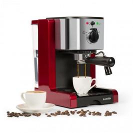 Espresso Klarstein Passionata Rossa 20 červen... Tlak 20 barů, parní tryska na napěnění mléka i přípravu horkých nápojů, je učen pro použití s klasick