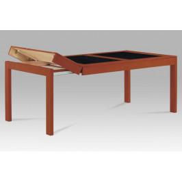 AUTRONIC AUT-594 TR2 jedálenský stôl  rozklad farba čerešňa/čierne sklo160+40+40x90cm