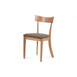 AUTRONIC BC-3333 BUK3 jedálenská stolička, farba buk, poťah krémový