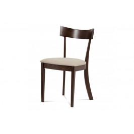 AUTRONIC BC-3333 WAL jedálenská stolička, farba orech, poťah krémový