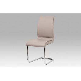 AUTRONIC DCH-575 LAN jedálenská stolička koženka lanýžovú / chróm