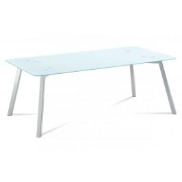 AUTRONIC GCT-530 WT konferenčný stolík 120x65x45, 8mm sklo biele/chróm