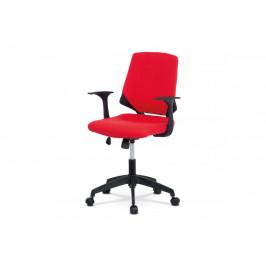 AUTRONIC KA-R204 RED kencelárska stolička, červená látka, čierne plastové područky