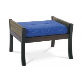 AUTRONIC PO232-0 BR taburet 710x50x45, modrá látka, nohy masív