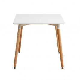 TEMPO KONDELA Jedálenský stôl, biela/buk, DIDIER  3 NEW