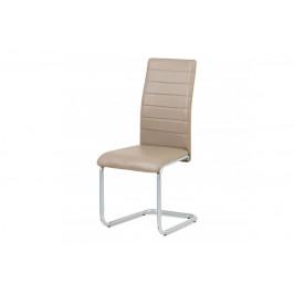 AUTRONIC DCL-102 CAP jedálenská stolička koženka cappuccino/šedý lak