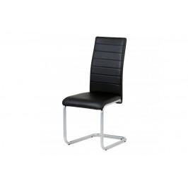 AUTRONIC DCL-102 BK jedálenská stolička, koženka čierna, sivý lak