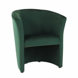 TEMPO KONDELA Klubové kreslo, smaragdová látka, CUBA