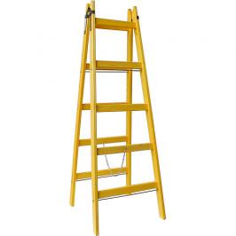 Rebrík DRD A 6 priečkový, 196 cm, drevený, 1 retiazka