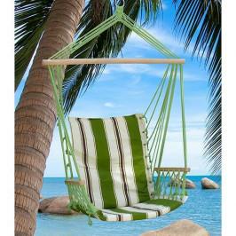 Kreslo CRAIG, zelené, bavlna, max. 150 kg, 100x50 cm