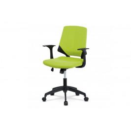 AUTRONIC KA-R204 GRN kencelárska stolička, zelená látka, čierne plastové područky