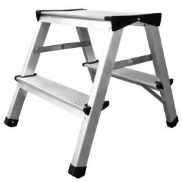 Schodiky Strend Pro DD2, 2x2, max. 125 kg, ALU, obojstranné