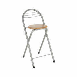 TEMPO KONDELA Barová stolička, buk/chróm, BOXER