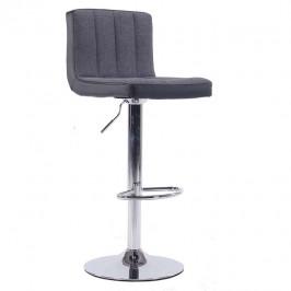 TEMPO KONDELA Barová stolička, sivá/čierna, HILDA