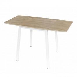TEMPO KONDELA Jedálenský stôl, MDF fóliovaná/kov, dub sonoma/biela, MAURO
