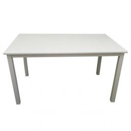 TEMPO KONDELA Jedálenský stôl, biela, 135 cm, ASTRO