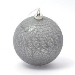 PLATINET bavlněná LED dekorační koule - šedá