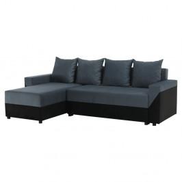 TEMPO KONDELA Univerzálna sedacia súprava, čierna/sivá, TIPO