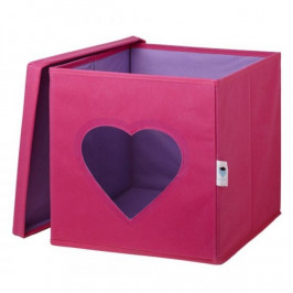 LOVE IT STORE IT - ULOZNY BOX NA HRACKY S KRYTOM A OKIENKOM - SRDCE 750022